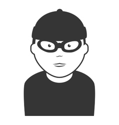 Robber thief man icon vector
