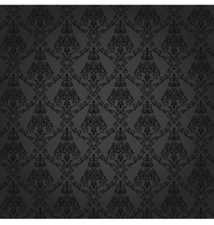 Seamless Damask Wallpaper 4 Gray Color vector image