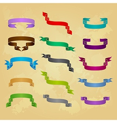 Collection of ribbon icons vector