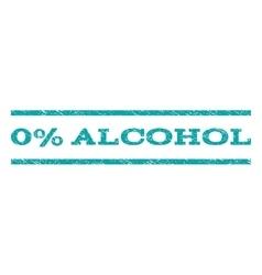 0 percent alcohol watermark stamp vector