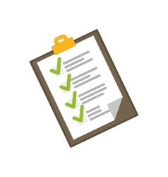Checklist document isolated vector image