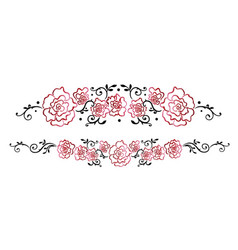 Garland with red roses vector