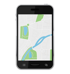 navigation map on smartphone screen vector image