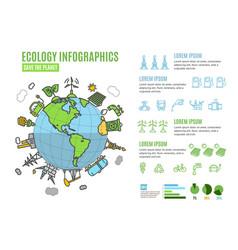 Ecology infographics banner menu card vector