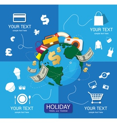 Holiday travel and tourism vector