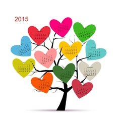 Calendar tree 2015 for your design vector image