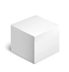 Cardboard package box white package square vector