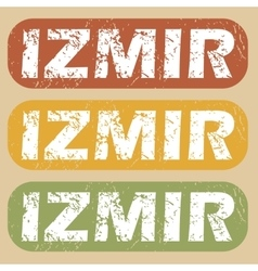 Vintage izmir stamp set vector