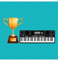 Music awards design vector