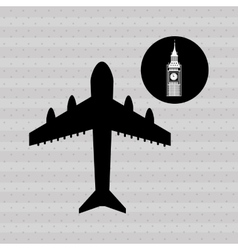 Fly around the world design vector