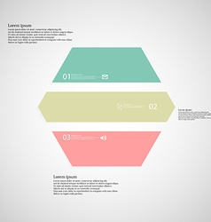 Hexagonal infographic template consists of three vector