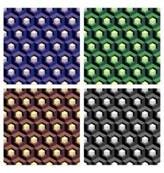 Abstract hexagon cell background composition set vector