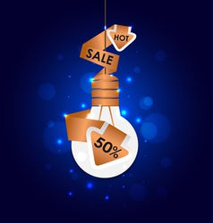 Abstract Light bulb Sale Signs vector image vector image