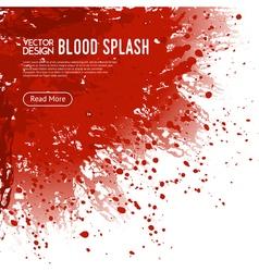 Blood Splash Background Webpage Design Poster vector image