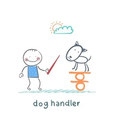 canine teaches the dog to keep the balance vector image