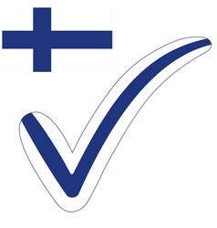 Check mark style finland republic flag vector