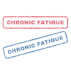 Chronic fatigue textile stamps vector