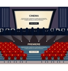 Cinema banner set vector