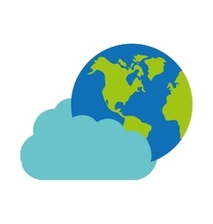 cloud technology globe world graphic vector image