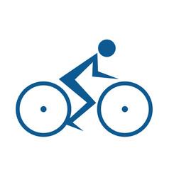 cycling race logo vector image vector image