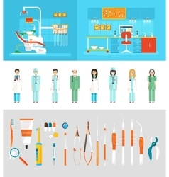 Dental office dentists vector image