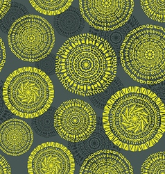 Ethnic circular seamless pattern vector