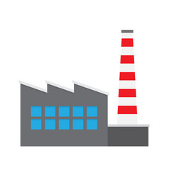 factory producing oil and gas building icon vector image