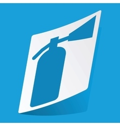 Fire extinguisher sticker vector