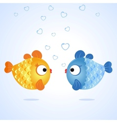 fish two vector image vector image
