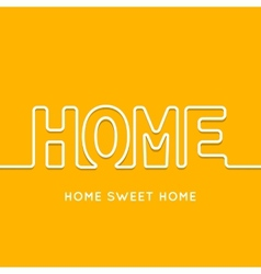 Home icon with shadow in orange background vector image