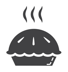 hot pie glyph icon food and drink bakery sign vector image vector image