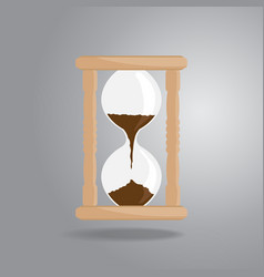 hourglass old vintage icon flat style on gray vector image vector image