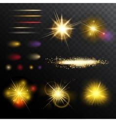 Light Effects Magic Set vector image