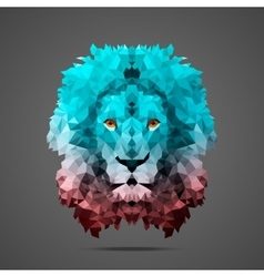 Lion low poly Rose Quartz Side light vector image