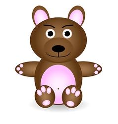 little teddy bear vector image