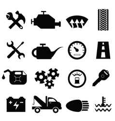 Mechanic workshop icons vector