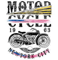 Motorsports logo tee denim jersey and fashion vector