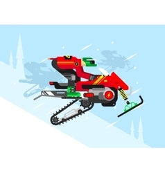 Racing competitions on snowmobiles vector