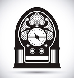 Radio vintage design vector image