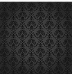 Seamless Damask Wallpaper 4 Gray Color vector image vector image
