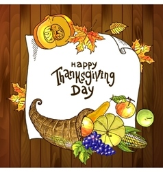 thanksgiving day food vector image vector image