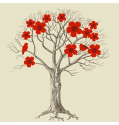 tree in bloom vector image vector image