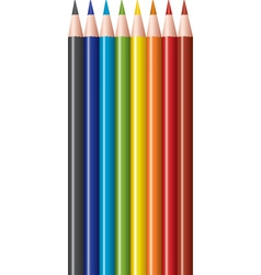 Vector set of colored pencils vector