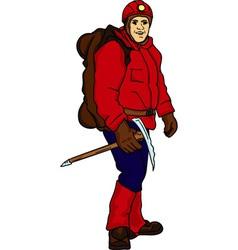 Climber man vector