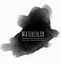 Black watercolor brush strokes vector