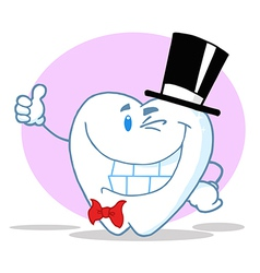 Smiling Winking Gentleman Tooth vector image