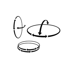 The round Arrows showing the complex hinge vector image