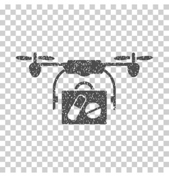 Airdrone pharmacy delivery grainy texture icon vector