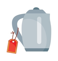 Teapot or electric kettle appliances isolated vector
