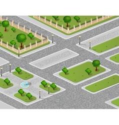 urban garden vector image